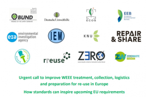 Urgent call to improve WEEE treatment, collection, logistics and preparation for re-use in Europe