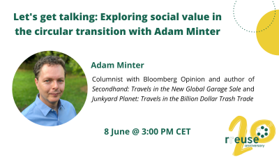 Let's get talking: Exploring social value in the circular transition with Adam Minter